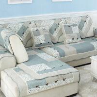 沙发垫布艺全棉防滑沙发坐垫夏季田园纯棉四季通用简约沙发巾套罩