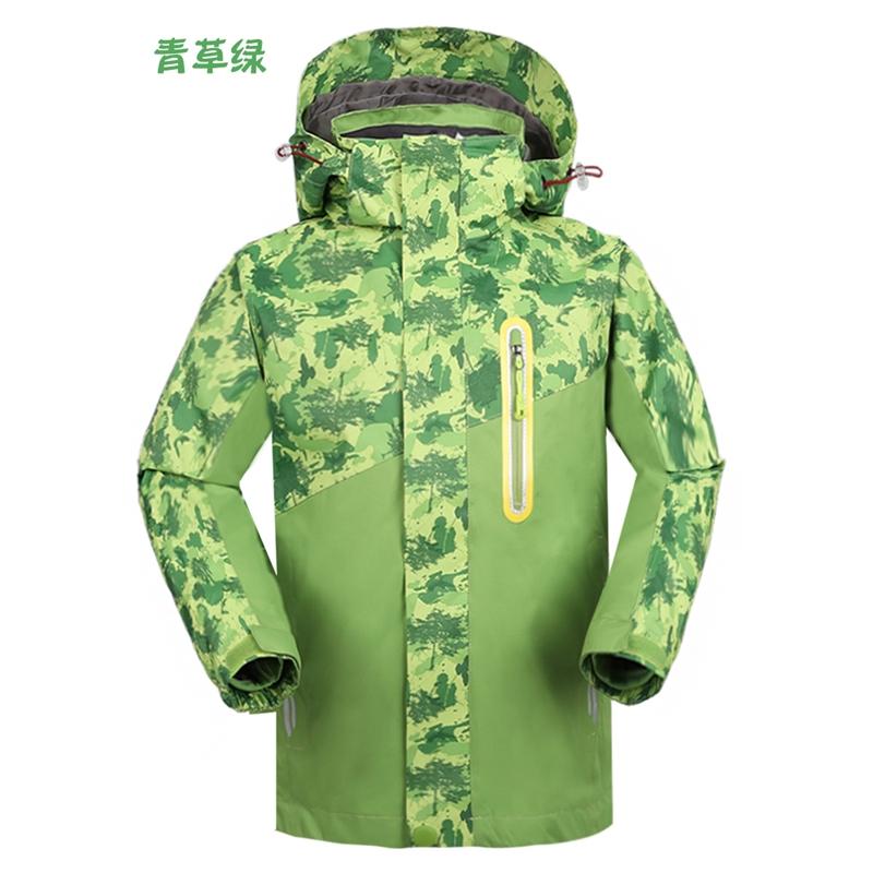 儿童男女三合一两件套防风保暖透气户外登山滑雪服