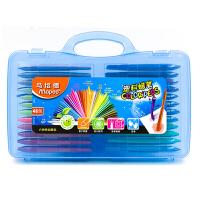 法国马培德24色36色48色塑料蜡笔儿童画画笔宝宝彩色蜡笔 48色塑料蜡笔 塑料盒色系 便于携带收纳