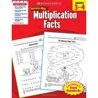 现货英文原版 Scholastic Success with Multiplication Facts, Grades