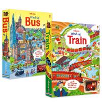 Wind-up 扭�影l�l玩具��四�版2本套�b 火�+汽� 拉拉玩具� 英文原版