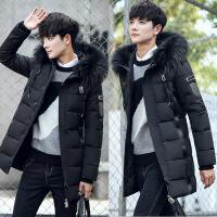 冬季羽绒服男中长款反季加厚韩版修身潮流帅气青少年高中学生男士