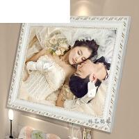 欧式实木相框5寸 6 7寸 8 10 8k 4K A3 A4婚纱儿童照片框摆台挂墙