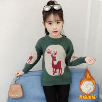 女童毛衣2018新款韩版秋冬套头衫儿童洋气针织衫中大童时尚毛线衣