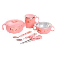 儿童餐具套装宝宝注水保温碗吃饭碗不锈钢防摔吸盘碗婴儿辅食碗勺