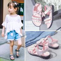 女童凉鞋夏季时尚小公主女孩露趾儿童学生鞋子潮
