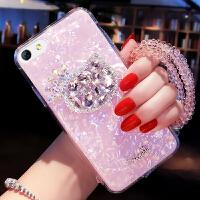 苹果6splus手机壳iphone6p套a1593镶钻萍果6spls卡通带挂绳女pg潮