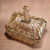 欧式水晶玻璃糖果储物罐干果盒装饰器皿家居饰品摆件茶几餐桌摆设