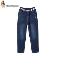 【3折价:149.7元】暇步士童装冬季新款男童加绒牛仔裤时尚简约双层加绒牛仔裤儿童加绒长裤