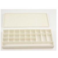 25格调色盒 防溢调色盒 美术用颜料盒 硬盖调色盘