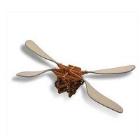 RECESKY 达芬奇手稿复刻拼装模型机械蝴蝶飞行器创意益智亲子玩具
