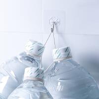 透明防水无痕强力粘钩魔力贴家用厨房卫生间墙壁挂钩塑料4个装