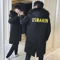 2018新款冬季男士棉衣中长款羽绒学生男冬装韩版潮流棉袄外套