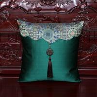 中式古典抱枕沙发流苏靠垫办公室腰枕床上靠背汽车护腰靠垫抱枕套