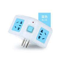 多功能多用转换插头无线扩展插排一转多家用魔方电源插座转换器 一转五 蓝色