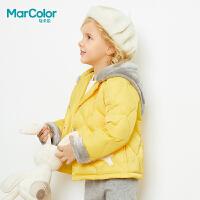 【清仓特价:66】巴拉巴拉旗下马卡乐冬女童可拆卸羽绒服卡通印花保暖外套