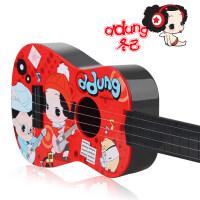 正版儿童多功能吉他仿真乐器宝宝早教小孩音乐玩具3-6a292 四弦吉他-红色【19*59cm】