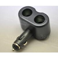 一拖二点烟器插座 双孔无线 车载电源分配器 车载充电器 精简版