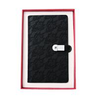 创意办公文具日记本充电宝电源U盘活页记事本商务笔记本礼品定制 黑色 8GB-5200mAh