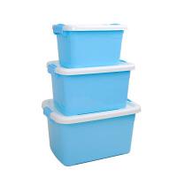 收纳箱 塑料储物箱衣服收纳整理医药箱 收纳盒三件套 加厚 三件套(大号+中号+小号)
