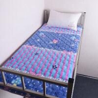 春秋珊瑚绒床垫0.9m床加厚学生宿舍床褥单人折叠儿童垫榻榻米床垫 蓝色蘑菇 加厚保暖珊瑚绒垫