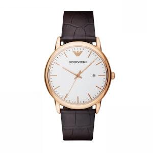 Armani官方阿玛尼皮革带手表 男士正品腕表 纤薄石英男表AR11011