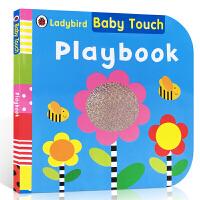 英文原版 Baby Touch:Playbook宝宝触摸书:一起玩大开本纸板洞洞书ladybird操作概念书 认知单词