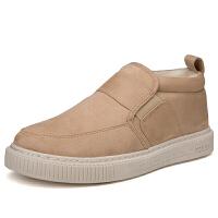 冬季加绒保暖棉鞋男加棉面包雪地靴中帮韩版潮流百搭加厚防滑棉靴