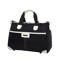 防水尼龙旅行包韩版时尚手提旅行袋短途旅游行李包单肩拉杆包简约 中