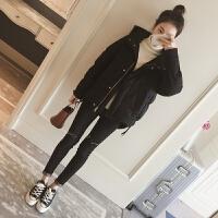 冬季新款韩版显瘦百搭连帽加厚棉衣女短款羽绒棉袄外套
