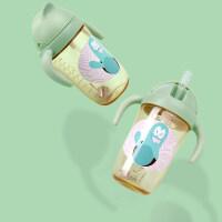 威仑帝尔儿童水杯吸管杯PPSU 宝宝学饮杯 婴儿水杯喝奶杯防摔防漏a123