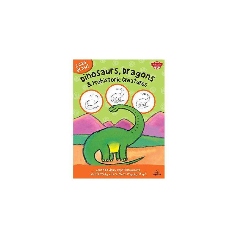 【预订】Dinosaurs, Dragons & Prehistoric Creatures: Learn to Draw Reptilian Beasts and Fantasy Character 美国库房发货,通常付款后3-5周到货!