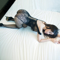 情趣内衣性感蕾丝小胸透视大码胖mm制服开裆黑色紧身包臀激情套装