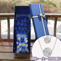 日韩百搭双层925银项链女锁骨链送女友爱人生日礼物