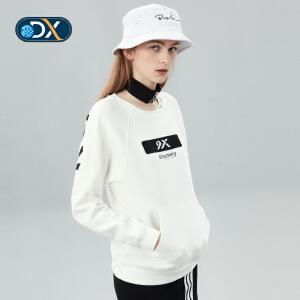 Discovery户外2018秋冬新品薄款长袖圆领潮女套头长袖卫衣92708