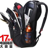 休闲商务电脑包旅行 时尚潮流女初中学生书包 新款双肩包男士背包
