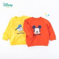 迪士尼Disney童装 男童迪士尼宝宝套头卫衣春秋新款抓绒系列卫衣193S1217