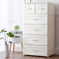 欧式多层抽屉式收纳柜塑料储物柜宝宝衣柜儿童玩具整理柜五斗柜子