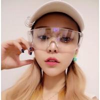 2018新款防虫防风镜护目眼镜摩托电瓶车大框全透明男女2018夏季骑行眼睛