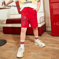 暇步士童装男童短裤夏季新款儿童棉裤子中大童轻薄柔软五分裤