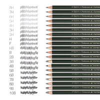 三菱铅笔9800 绘图铅笔 绘画素描铅笔 日本木头铅笔 12支盒装 学生美术HB2H2B4B6B