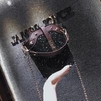小包包女2018新款韩版简约亮片手提包潮百搭复古单肩斜跨包水桶包