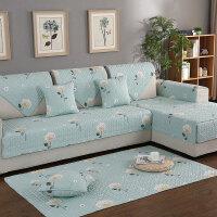 ???沙发垫布艺四季通用现代简约防滑坐垫夏季全盖实木沙发巾