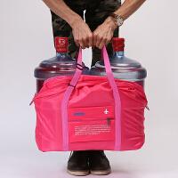 可折叠旅行袋手提女大容量拉杆行李包短途出差防水收纳包登机包韩 大