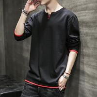 男士长袖t恤2020新款韩版潮牌打底衫春季圆领内搭上衣服