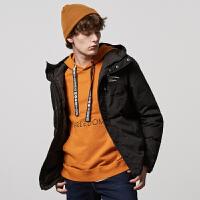 【1件4折到手价:259.6】美特斯邦威旗下 4M羽绒服男士冬季流连帽外套学生