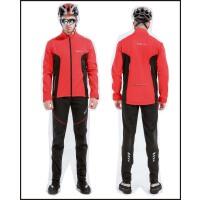秋冬季男女骑行服套装抓绒长袖自行车骑行长裤保暖户外单车运动服