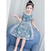 女童连衣裙夏装新款超洋气儿童公主裙夏季小女孩碎花裙子网纱
