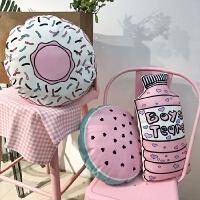 韩国创意少女心可爱粉色甜甜圈抱枕公仔毛绒搞怪玩偶靠垫礼物