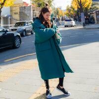 №【2019新款】冬天美女穿的女长袖长款外套厚风衣中长款日系卫衣少女大学生成熟棉衣女士 X